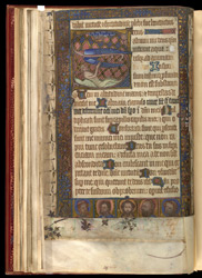Historiated Initial And Historiated Border, In A Fragmentary Psalter f.20v